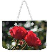 Two Red Roses Weekender Tote Bag
