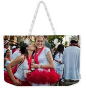 Two Red Tutus At Running Of The Bulls Weekender Tote Bag