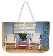 Two Rocking Chairs On The Porch Weekender Tote Bag