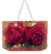 Two Roses. Happy Anniversary Weekender Tote Bag
