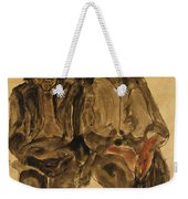 Two Seated Boys Weekender Tote Bag by Egon Schiele