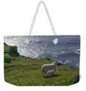 Two Sheep On The Cliffs At Sleive League - Donegal Ireland Weekender Tote Bag