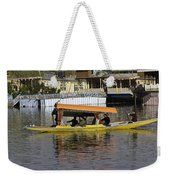 Two Shikaras Next To Each Other In The Dal Lake Weekender Tote Bag