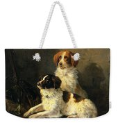 Two Spaniels Waiting For The Hunt Weekender Tote Bag