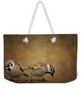 Two Sparrows Weekender Tote Bag