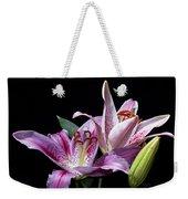 Two Star Lilies Weekender Tote Bag