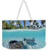 Two Stingrays 1 Weekender Tote Bag