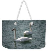 Two Swans A Swimming Weekender Tote Bag