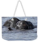 Two Swimming Elephants Weekender Tote Bag