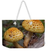 Two Toadstool Chums On A Log Weekender Tote Bag