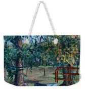 Two Trees And A Gate Weekender Tote Bag