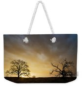 Two Trees Greeting The Sun Weekender Tote Bag
