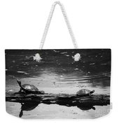 Two Turtles On A Log Weekender Tote Bag