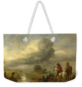 Two Vedettes On The Watch By A Stream Weekender Tote Bag
