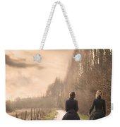 Two Victorian Ladies Walking On A Cobbled Path Weekender Tote Bag