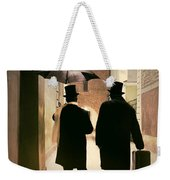 Two Victorian Men Wearing Top Hats In The Old Alley Weekender Tote Bag