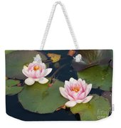Two Water Lillies Weekender Tote Bag