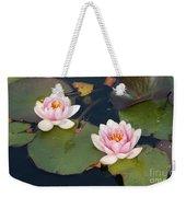 Two Water Lillies Weekender Tote Bag