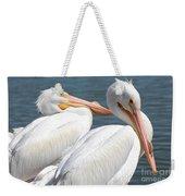 Two White Pelicans Weekender Tote Bag