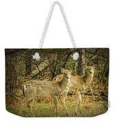 Two White Tailed Deer Weekender Tote Bag