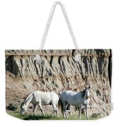 Two Wild White Stallions Weekender Tote Bag by Sabrina L Ryan