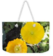 Two Yellow Flowers Weekender Tote Bag