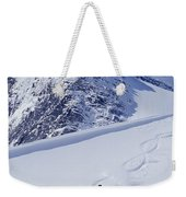 Two Young Men Skiing Untracked Powder Weekender Tote Bag
