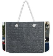 Tx-15026 The Woman Suffrage Movement In Texas Weekender Tote Bag