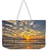 Calm Seas And A Tybee Island Sunrise Weekender Tote Bag