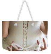 Tying The Wedding Dress Weekender Tote Bag