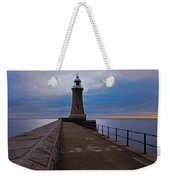 Tynemouth Pier Lighthouse Weekender Tote Bag