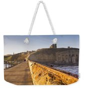 Tynemouth Priory And Castle From North Pier Weekender Tote Bag