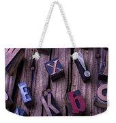 Typesetting Blocks Weekender Tote Bag