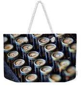 Typewriter Keys Weekender Tote Bag