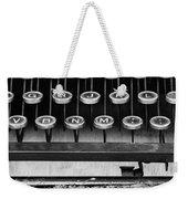 Typewriter Triptych Part 2 Weekender Tote Bag
