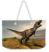 Tyrannosaurus Rex Dinosaur Walking Weekender Tote Bag