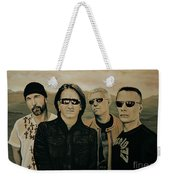 U2 Silver And Gold Weekender Tote Bag
