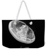 Ufos - Moon Jelly Aurelia Labiata In Black And White. Weekender Tote Bag