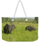 Ugandan Elephants Weekender Tote Bag