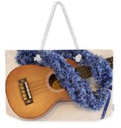 Ukulele And Blue Ribbon Lei Weekender Tote Bag