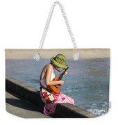Ukulele Lady At Hanalei Bay Weekender Tote Bag