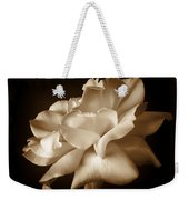 Umber Rose Floral Petals Weekender Tote Bag