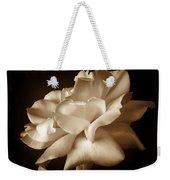 Umber Rose Floral Petals Weekender Tote Bag by Jennie Marie Schell