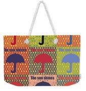 Umbrella In Pop Art Style Weekender Tote Bag by Tommytechno Sweden