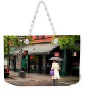 The Purple Bag - New York City In The Rain Weekender Tote Bag