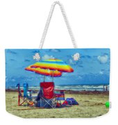 Umbrellas At The Beach Weekender Tote Bag