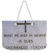 Unchanged Forever Weekender Tote Bag