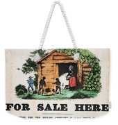 Uncle Tom's Cabin, C1860 Weekender Tote Bag