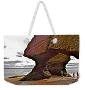 Under Fundy Feet In Big Cove At Hopewell Rocks-new Brunswick Weekender Tote Bag