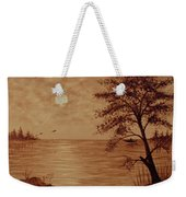 Under Moonlight Original Coffee Painting Weekender Tote Bag
